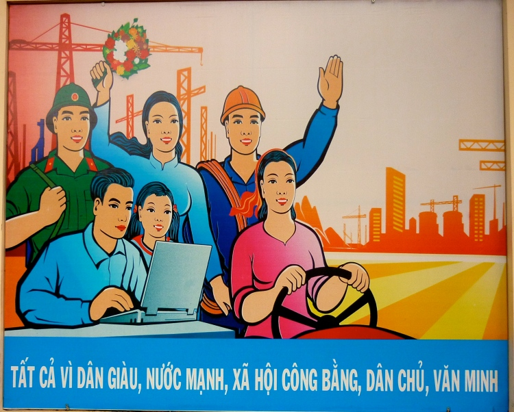 State advertising (or propoganda) - Ho Chi Minh City